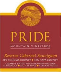 Pride Mountain Vineyards Reserve Cabernet Sauvignon 2014, 750ml