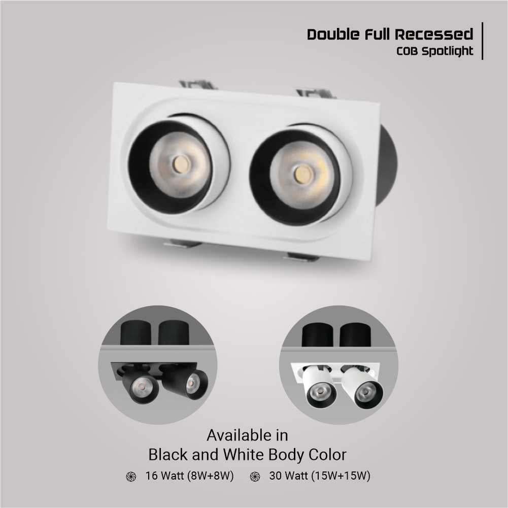 Architectural Double Recessed Spotlight
