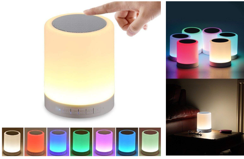 Bluetooth speaker with smart touch LED