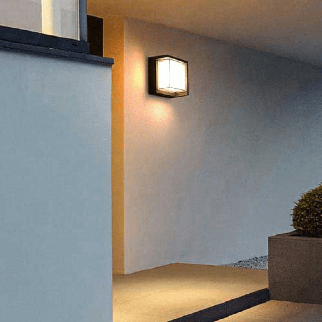 cecidimus square led facade wall light footer 3