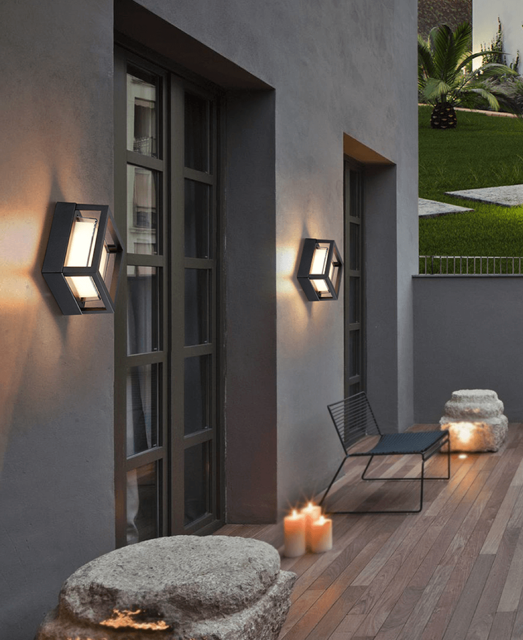 modern square porch led facade wall light footer image 1