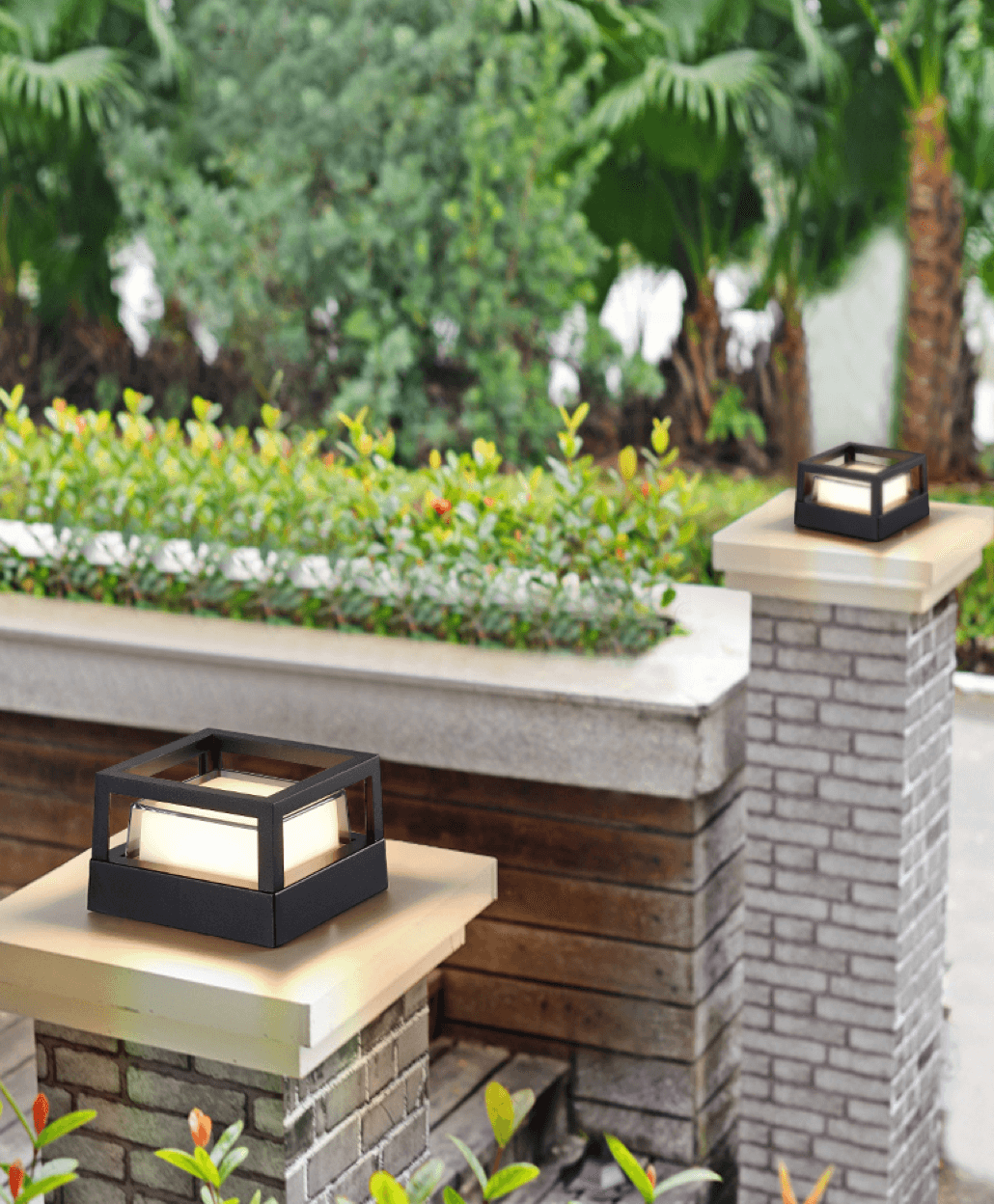 modern square porch led facade wall light footer image 2