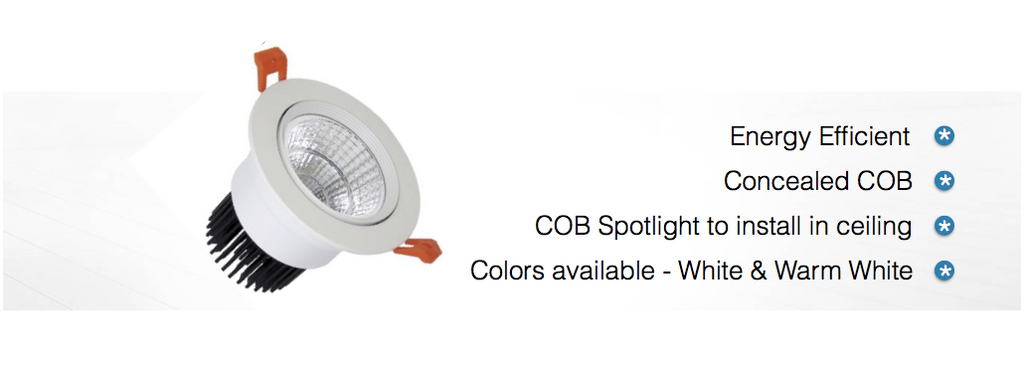 3 Watt Concealed LED Spotlight COB Light