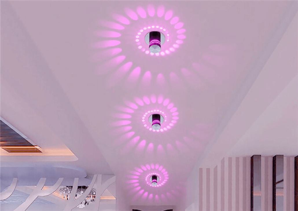 spiral led wall facade light footer image 3