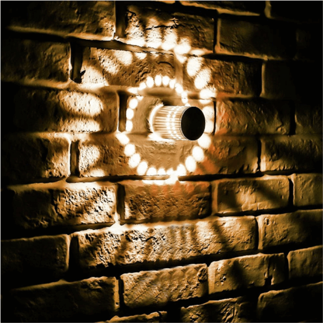 spiral led wall facade light footer image 5