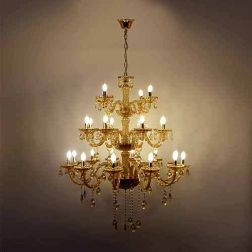 24 lights amber chandelier 1