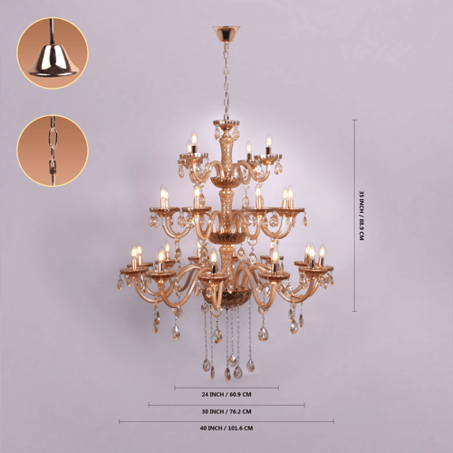 24 lights amber chandelier 4