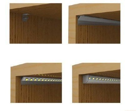 PFL-01-Harold Electricals-Triangular Aluminium Profile for LED Light, Standard -Set of 5