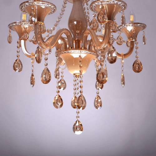 6 lights amber chandelier 5