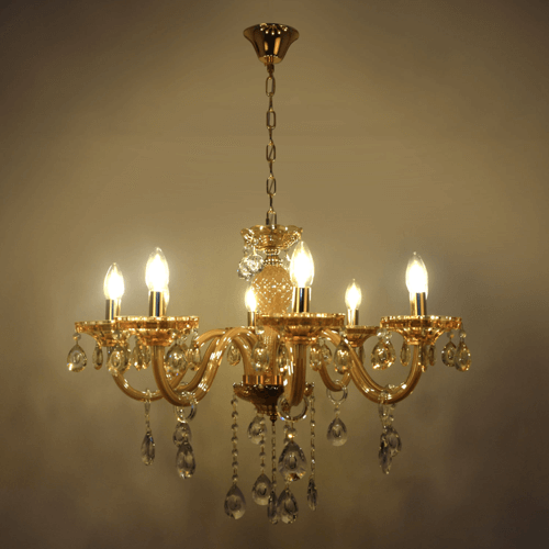 8 lights amber chandelier 1