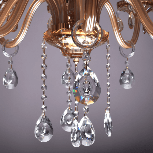 8 lights amber chandelier 4