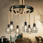 Metal Cage & Rope Hanging Chandelier