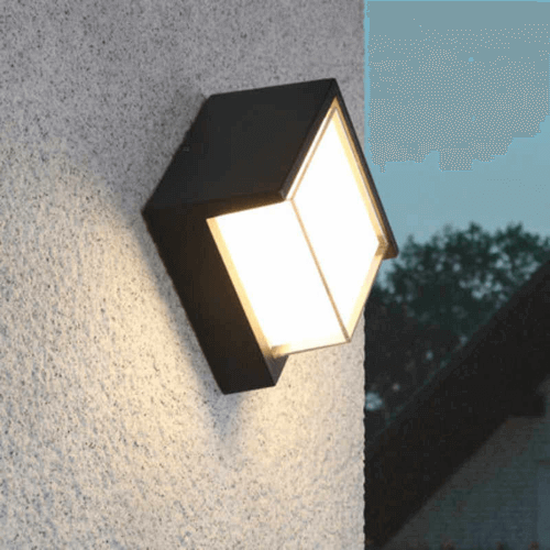 cecidimus square led facade wall light 4
