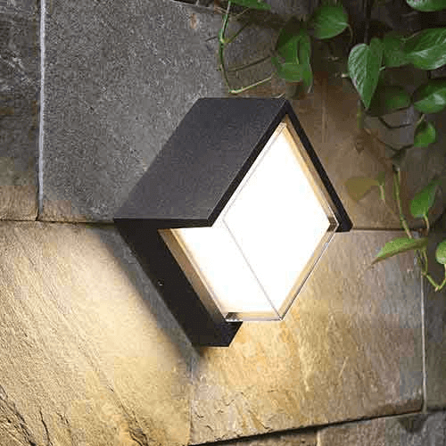 cecidimus square led facade wall light 5