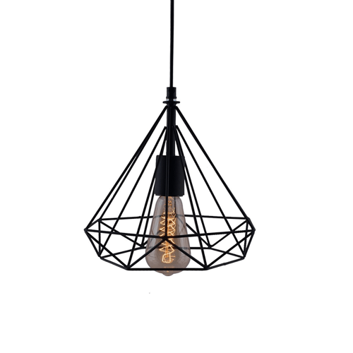 diamond cage hanging light 1