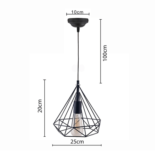 diamond cage hanging light 3
