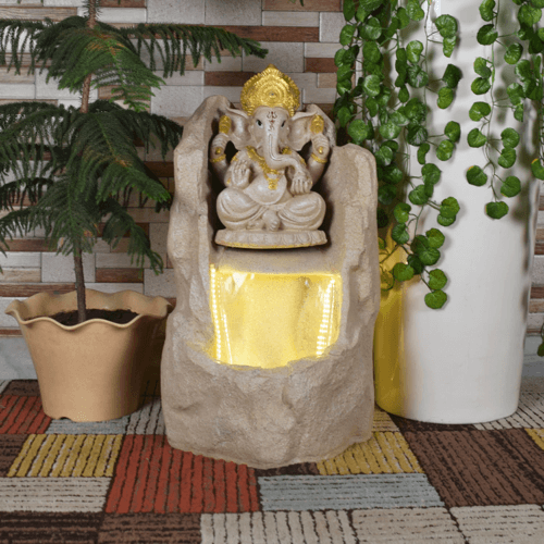 ganesh fountain light 1