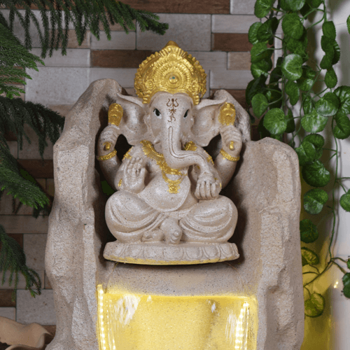 ganesh fountain light 2