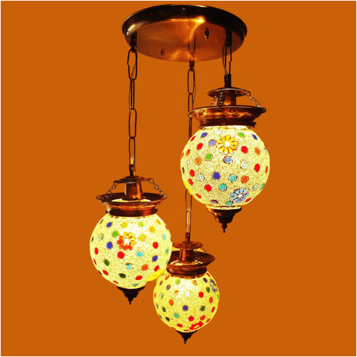 glass handicraft aluminium hanging light 1