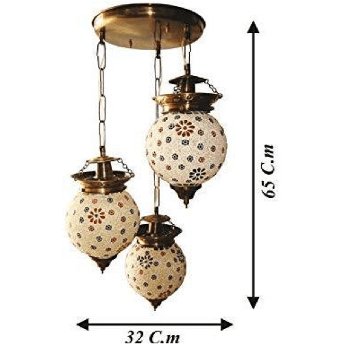 glass handicraft aluminium hanging light 3