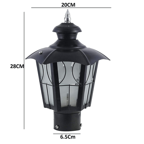 metal umbrella decorative gate light 3