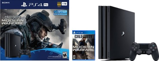 PlayStation 4 Pro 1TB Jet Black - Bundle - Call of Duty: Modern Warfare