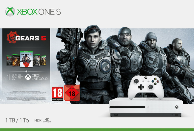 Xbox One S 1TB White - Bundle - Gears 5