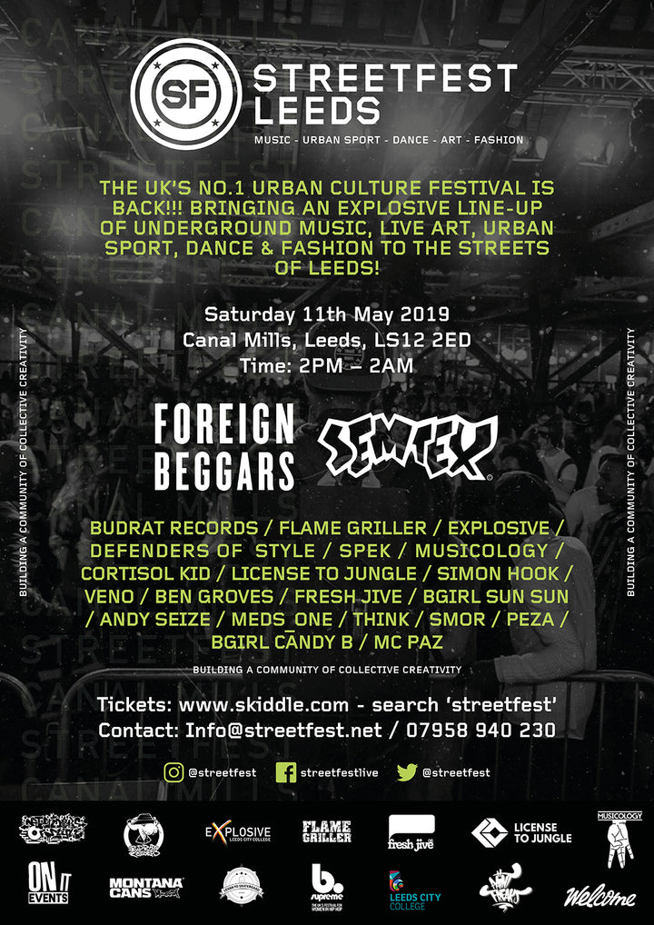 FULL STREETFEST LEEDS LINE UP ANNOUNCED