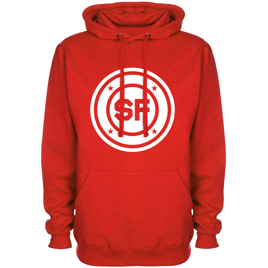 SF Chest Roundel Red Hoodie