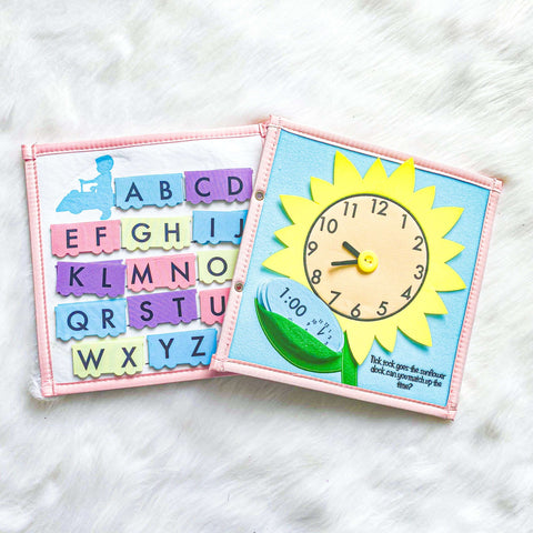 Pretty Childish:ABC & Sunflower Page (BLUE & PINK)