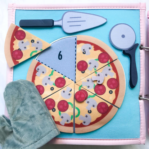 Pretty Childish:2NDS SALE -  Pizza & Memory Game (BLUE & PINK),PINK