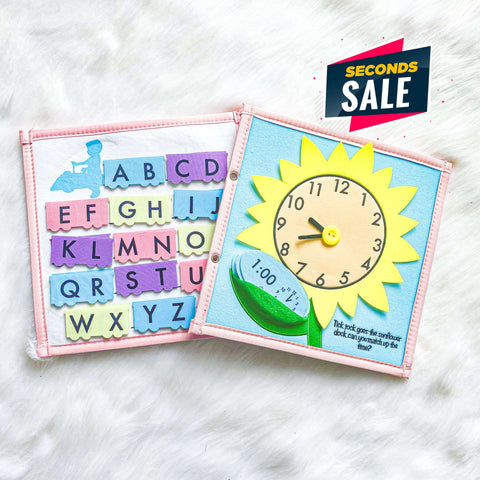 Pretty Childish:2NDS SALE - ABC & Sunflower Page (BLUE & PINK)