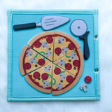 Pretty Childish:2NDS SALE -  Pizza & Memory Game (BLUE & PINK),BLUE