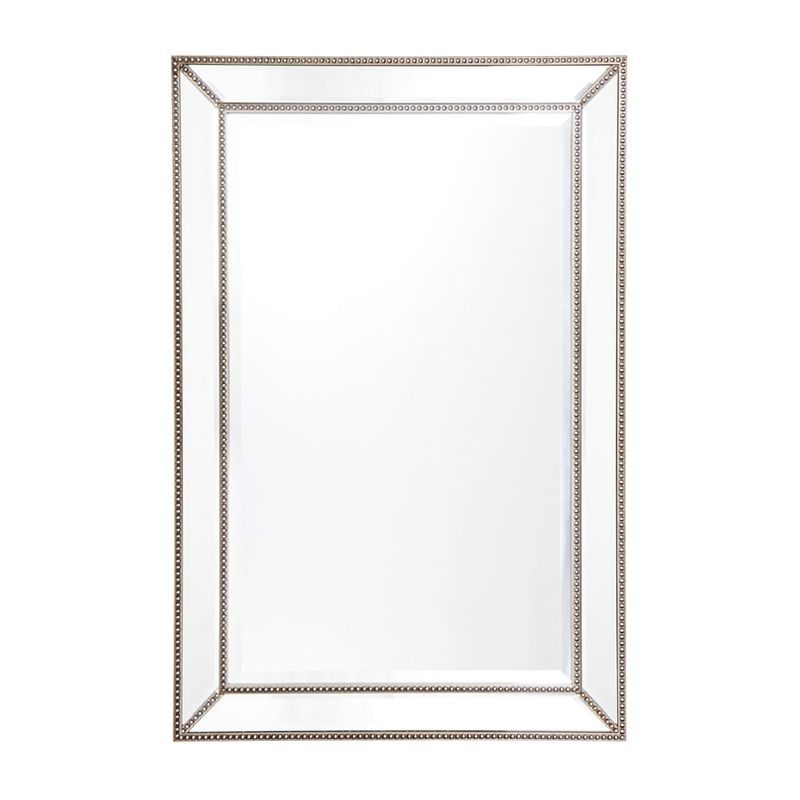 Zeta Wall Mirror - Medium Antique Silver