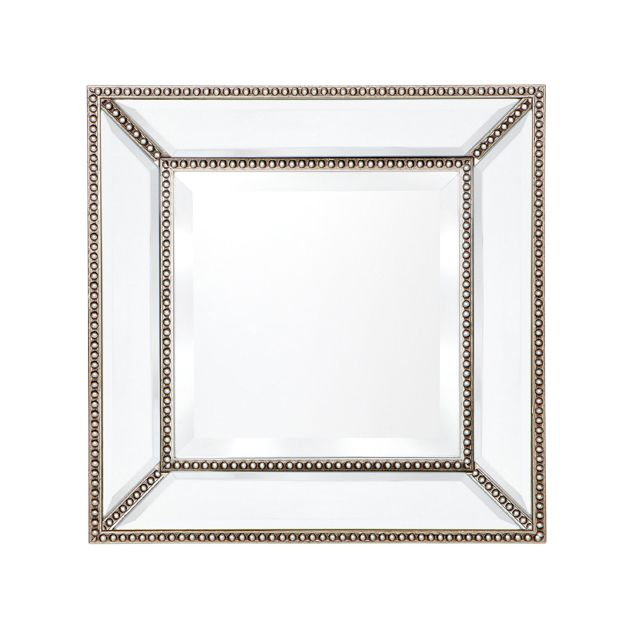 Zeta Wall Mirror - Small Antique Silver