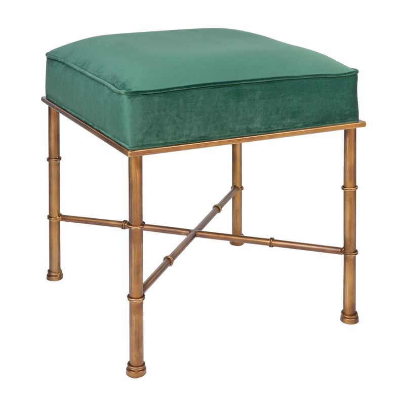 Clara Stool - Emerald Green Velvet