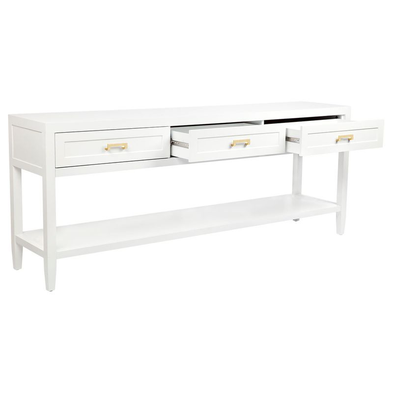 Soloman Console Table - Large White