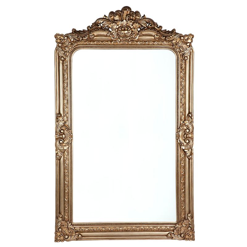 Elizabeth Floor Mirror - Antique Gold
