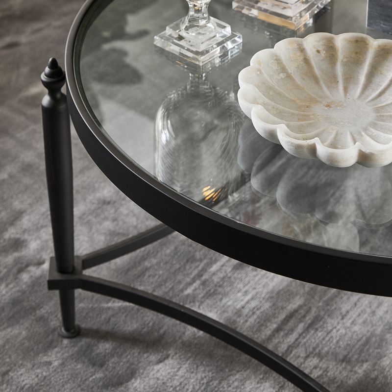 Jak Glass Coffee Table - Black
