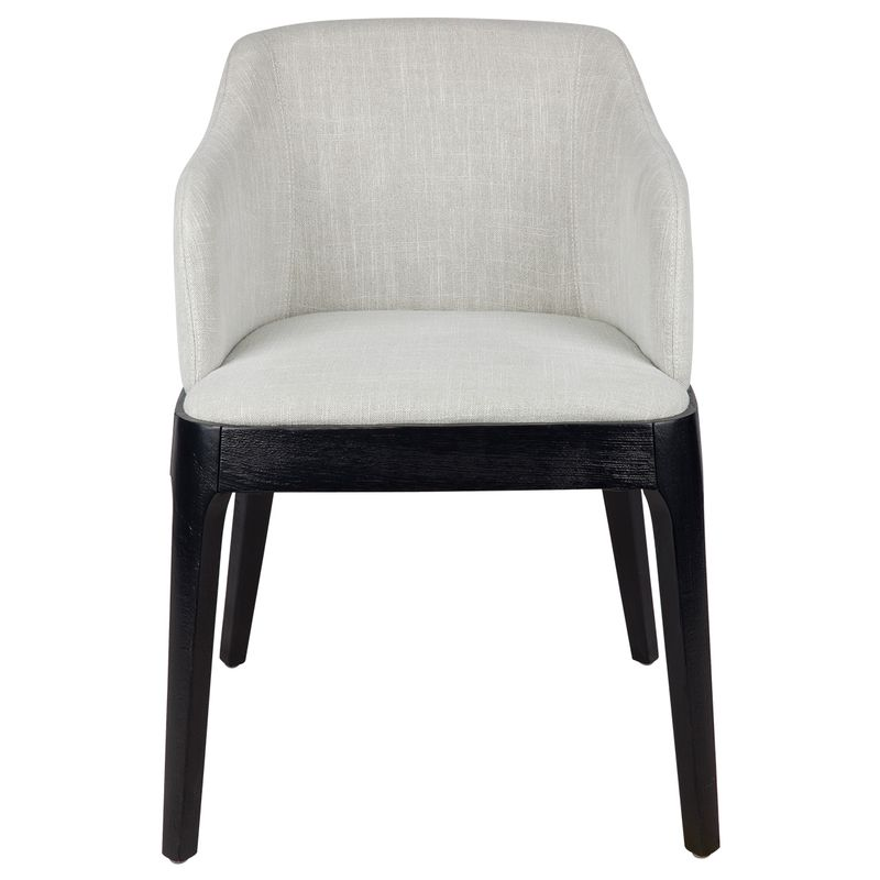 Hayes Black Dining Chair - Natural Linen
