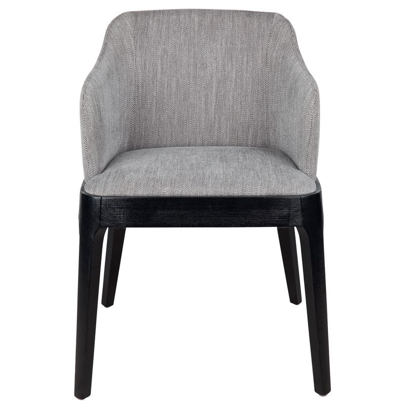 Hayes Black Dining Chair - Grey
