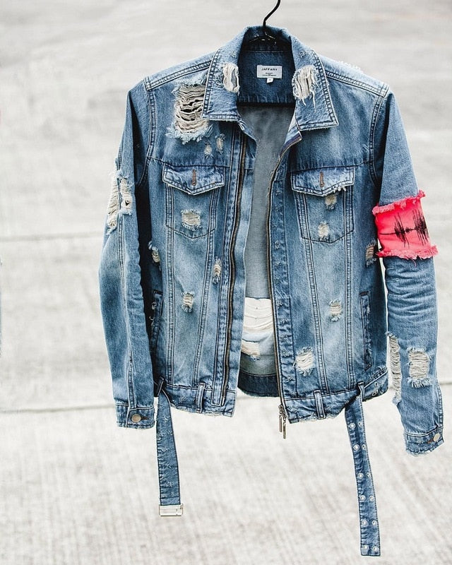 Classic Broken Zipper Denim Jacket - A&J Fashion Boutique