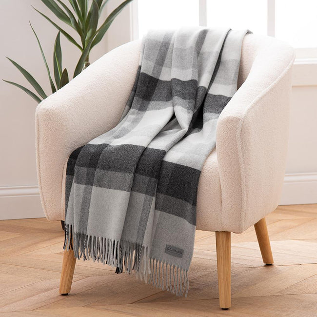 Wool Plaid Throw
