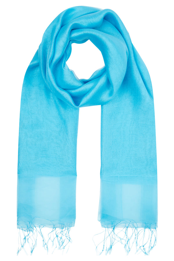 Wisteria Scarf, Turquoise