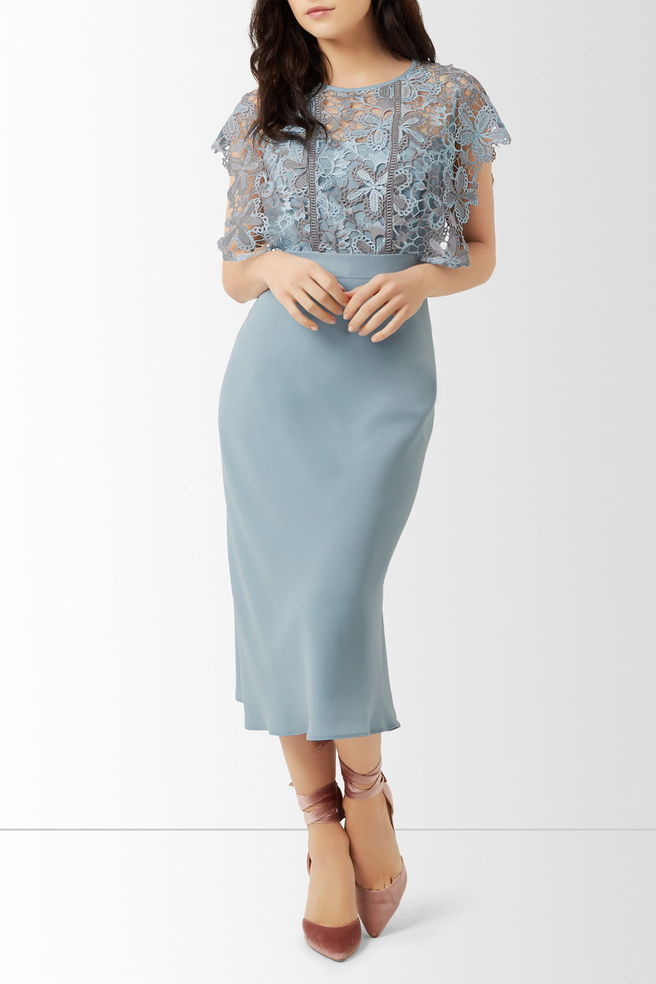 Jayne Dress Petite, Blue Silver