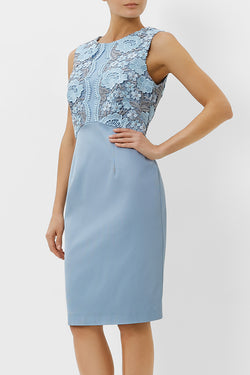 Crete Dress, Pale Blue