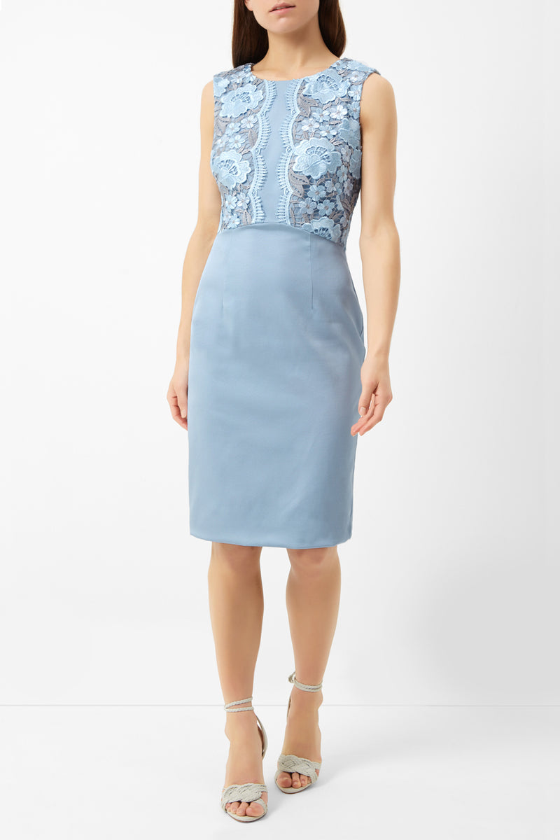Crete Dress Petite, Pale Blue