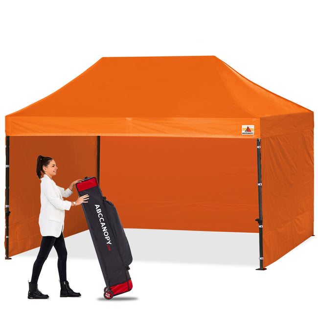 ABCCANOPY 10 X 20 Pop up Canopy Tent Commercial Instant Gazebos with 9 Removable Sides and Roller Bag and 6X Weight Bag Navy Blue
