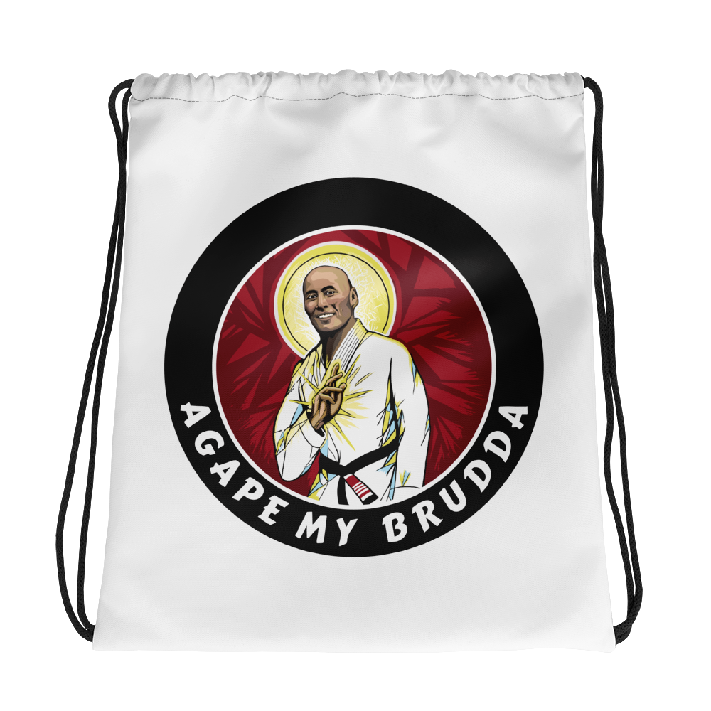 agape drawstring bag - granite bay jiu-jitsu