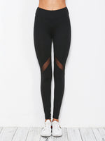 Heart Design Mesh stitching Yoga Pants